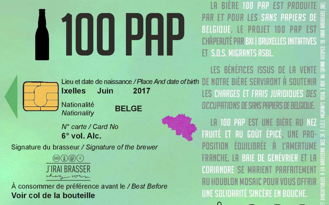 100pap: la bière solidaire qui mobilise sans politiser