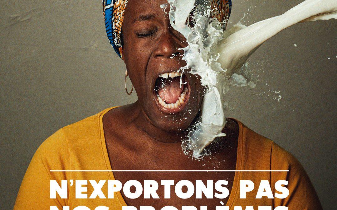 N'exportons pas nos problèmes ! Une campagne pour dénoncer les conséquences de la surproduction de lait
